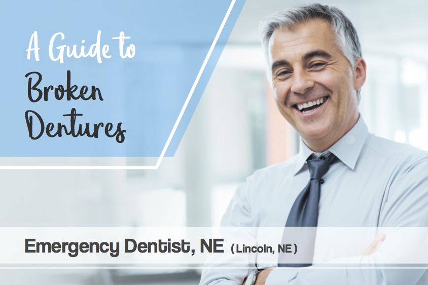 guide to broken dentures repair emergency dentist banner