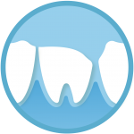 emergency dentist icon of a broken cracked tooth emergency