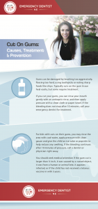 infographic of gum cut causes treatment prevention